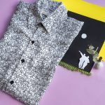 Artistic photo of shirt with Keith Haring print