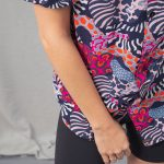 Detail photo of short sleeve shirt printed in multiple colors