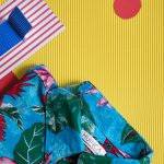 Photo art of a summer shirt with swimming colors