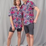 Relaxed men's and women's colorful printed shirt